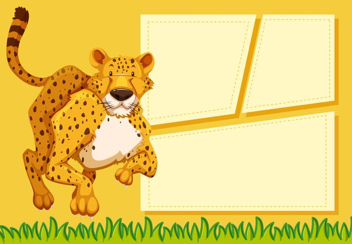 Cheetah on note template