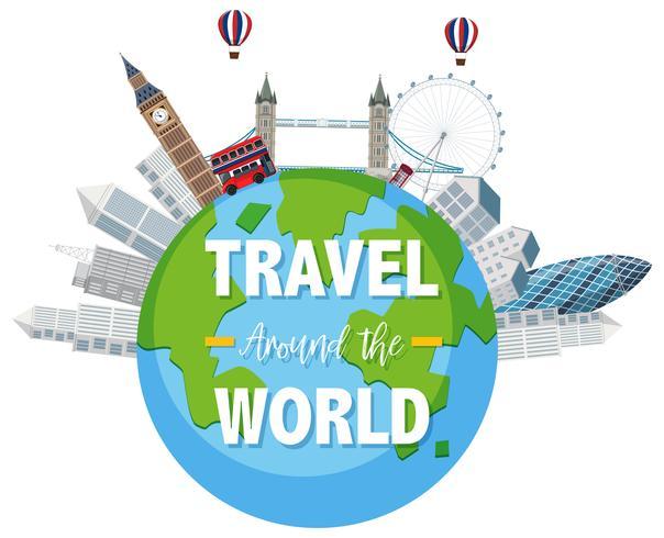Travel the world scene