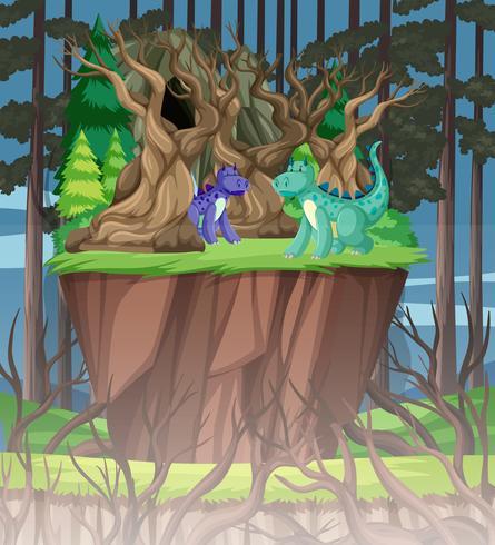Dragón en el bosque