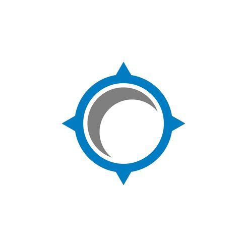 Cerchio Rosa Bussola Logo Template Illustration Design. Vettore ENV 10.