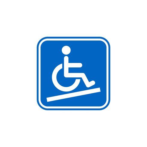 Molde do ícone do vetor - projeto da ilustração do acesso da inabilidade. Vetor eps 10