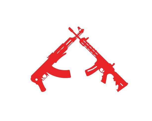 Plantillas de símbolos vectoriales de armas