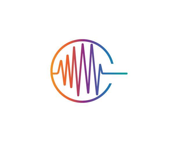 icône de vecteur du logo ilustration onde sonore