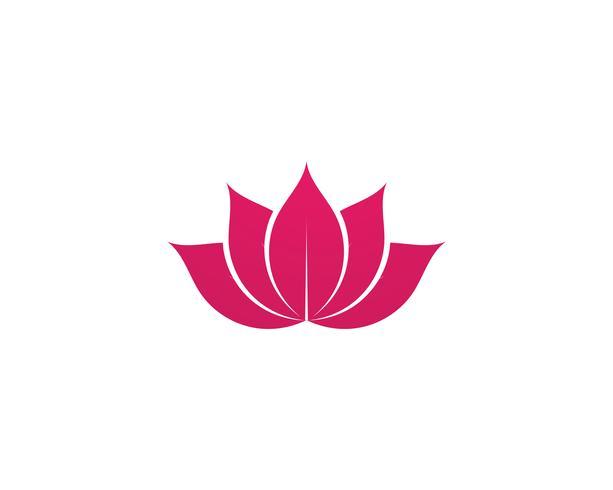 Lotus Flower Sign Wellness, Spa y Yoga. Ilustración vectorial