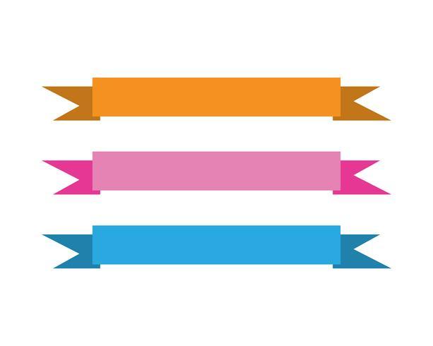 Flat vektor band banners platt isolerad på vit bakgrund