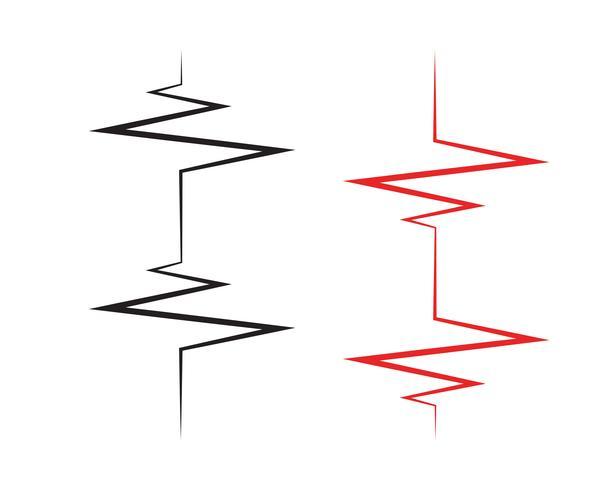 Pulse lijn ilustratie vector sjabloon - vectoren