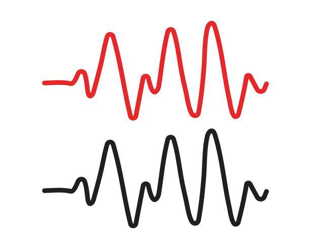 Modelos de vetor de ilustration de linha de pulso