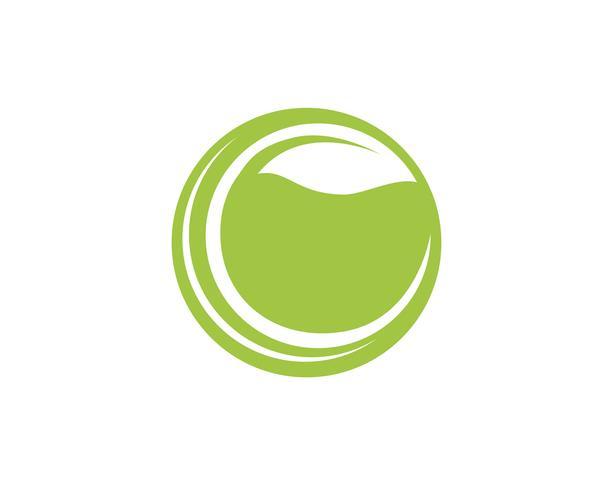 Letra C Logos del elemento de naturaleza de árbol verde ecología hoja