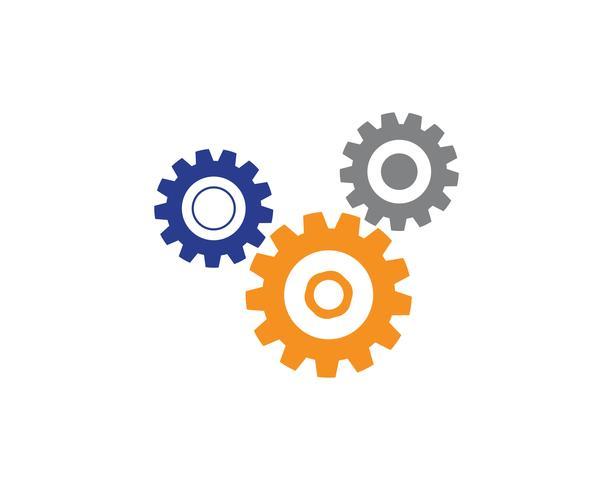 Vector del diseño del ejemplo del icono del vector de la plantilla del logotipo del engranaje