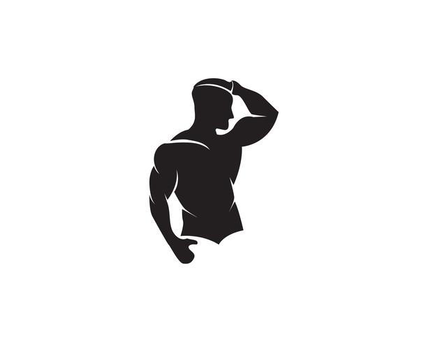 Vectorobject en pictogrammen voor Sportlabel, Gym Badge, Fitness Logo Design vector