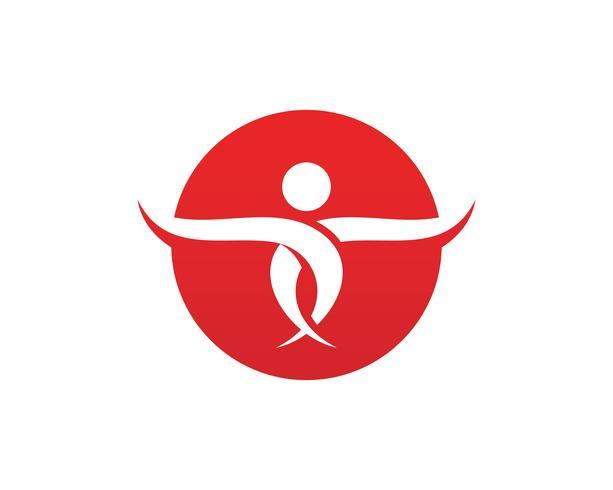 mensen zorg succes gezondheid leven logo sjabloon vector