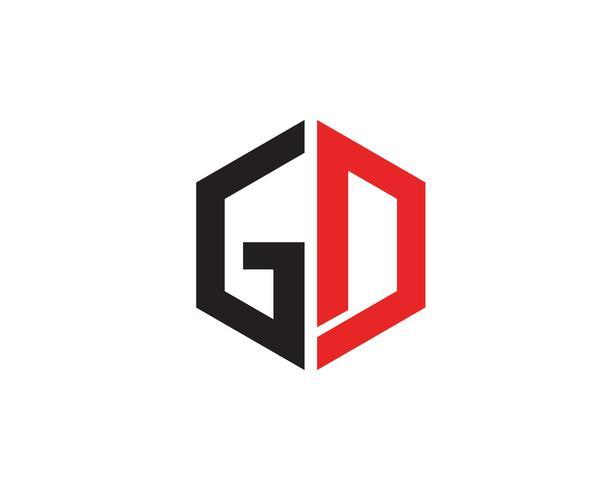 GD lettre logo et symbole vecteur busines