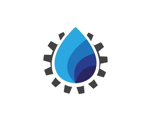 Ilustração de modelo de logotipo de gota de água