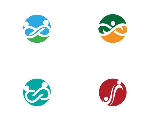 Modello di Logo di adozione e comunità infinito cura