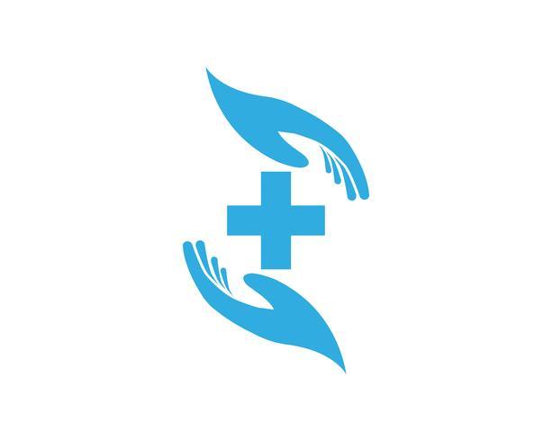 Icone del modello di logo e simboli di aiuto della mano