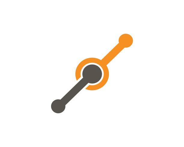 Modello di logo di Infinity unity Design Vector icon