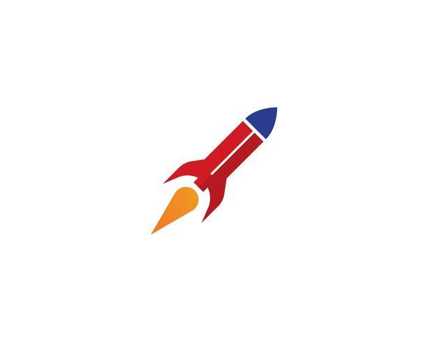 Modello dell'icona di vettore di logo dell'illustrazione di Rocket