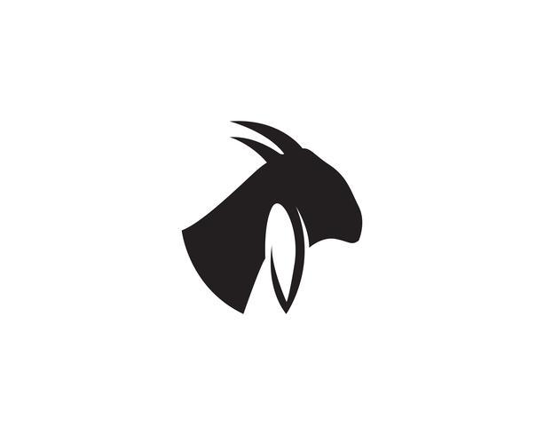 Tête de chèvre Logo Template vecteur