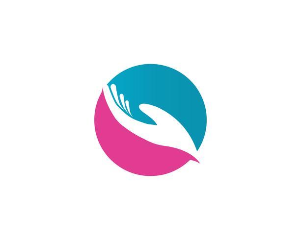 Hand help logo en symbolen sjabloon pictogrammen