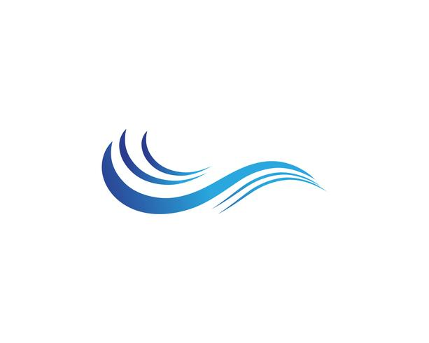 Wellenwasser Logo Strand Vektor