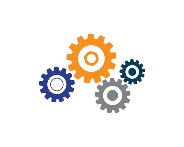 Engrenagem Logo Template vector ícone ilustração design vector