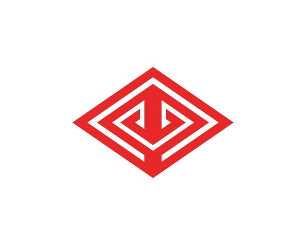 Pirámide logo y símbolo de negocio diseño abstracto plantilla vector
