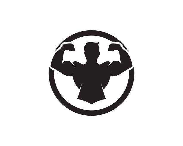 Vector object and Icons for Sport Label, Gym Badge, Fitness Logo Design