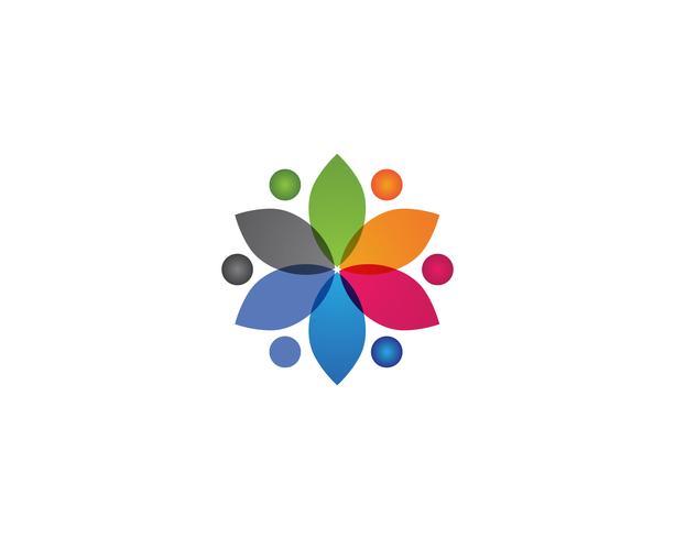 Gesundheitserfolgsleute interessieren sich Logo- und Symbolschablone