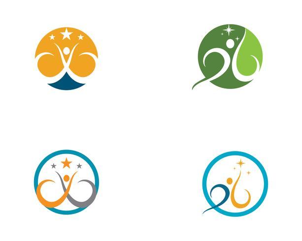 Vector de plantilla de logotipo de vida saludable