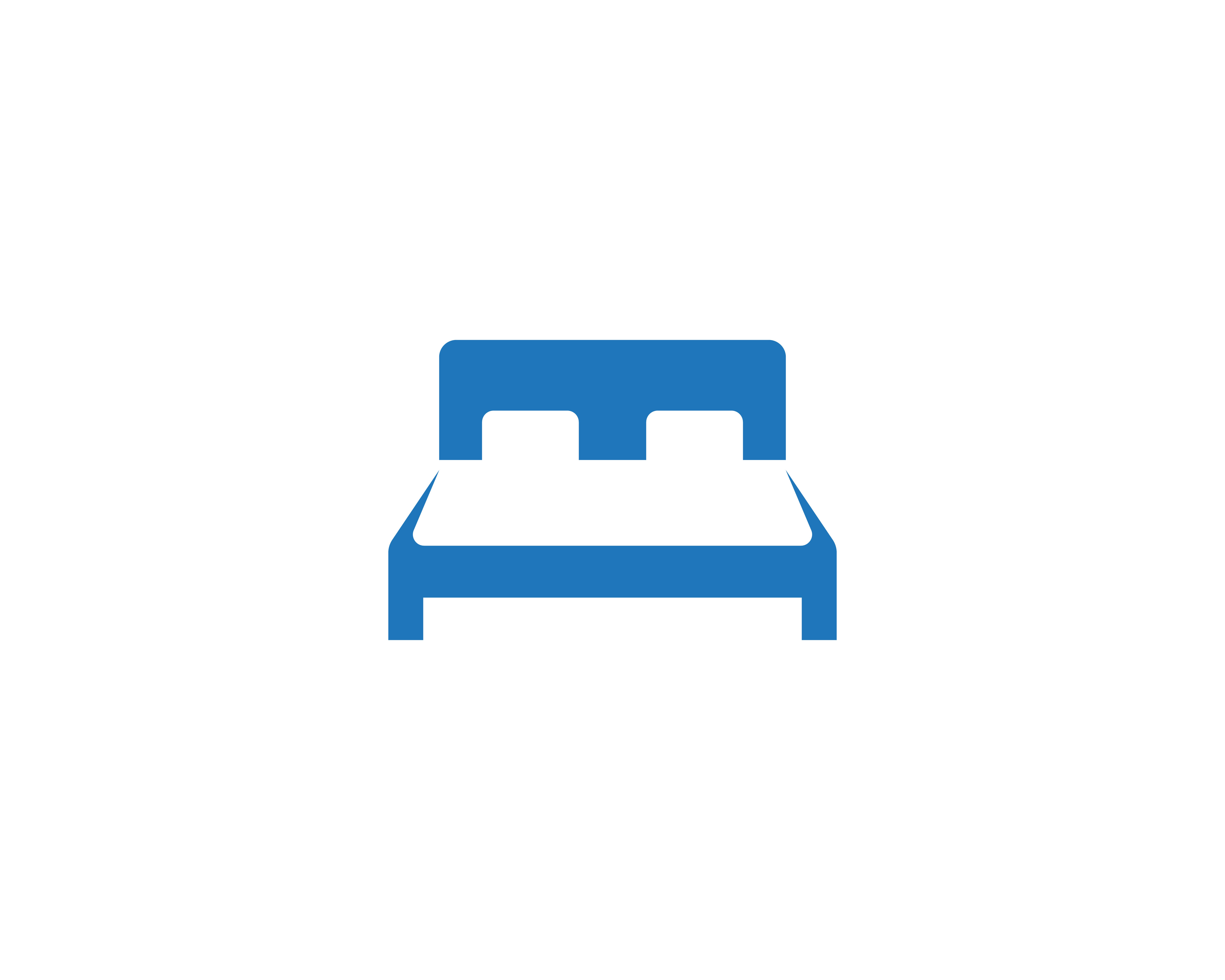 Bed logo and symbol hotel business logo vector - Download ...