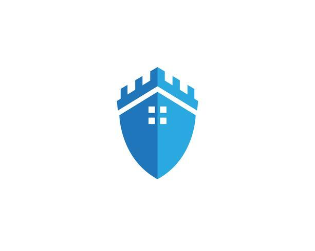 Guarda de segurança logo design vector escudo