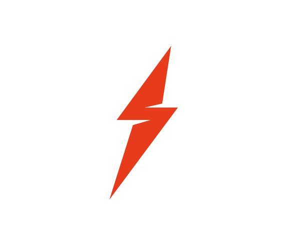 Vector de plantilla de logotipo Flash thunderbolt