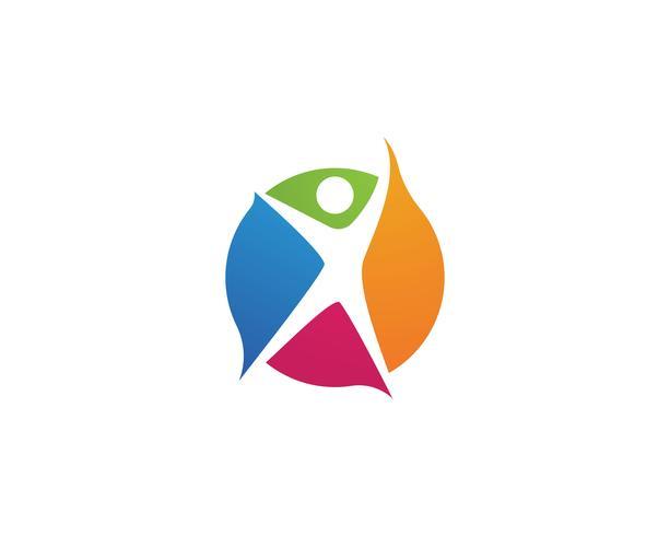 Logotipo de vida saudável modelo vector ícone Vector
