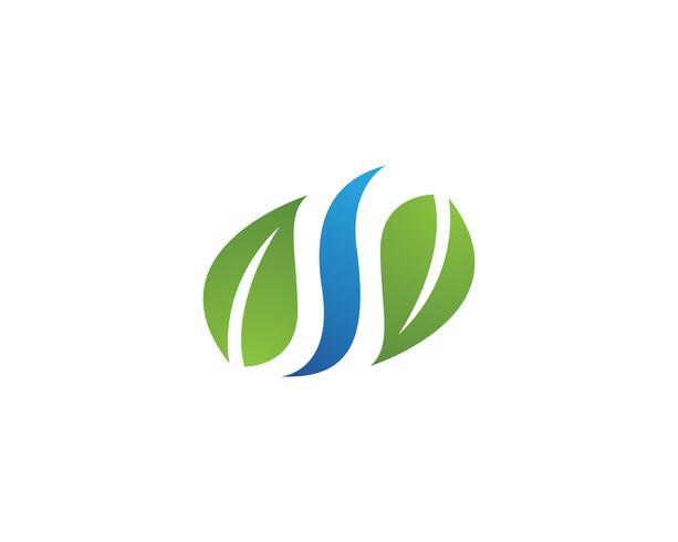 Baum-Blatt-Vektorikone Illustrationsdesign
