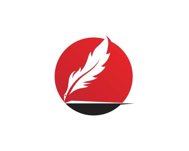 logotipo de pluma vector plantilla de signo