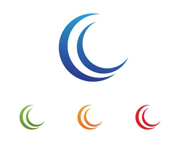 wave water logo beach vector