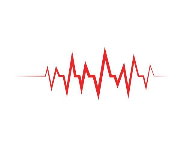 Plantilla de vector de ilustración de línea de pulso - Vectores