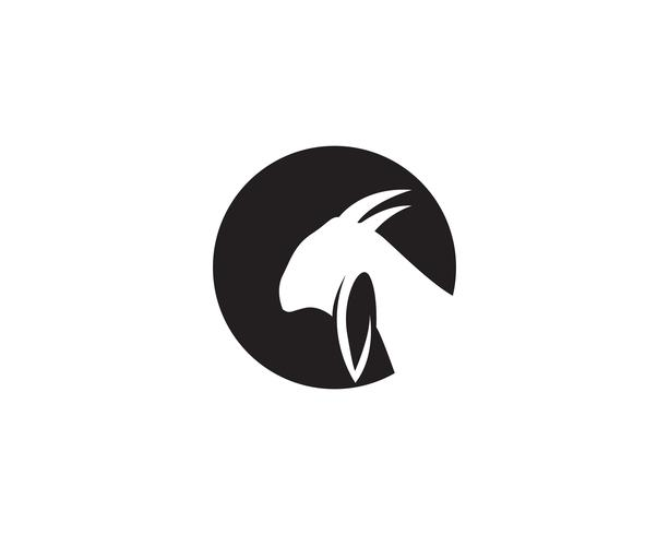 Vector de plantilla de logotipo de cabeza de cabra