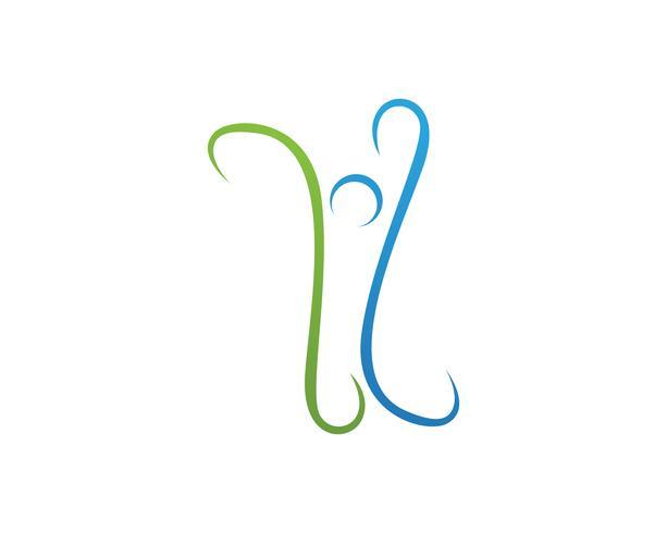 Vida saludable Logo plantilla vector icono Vector