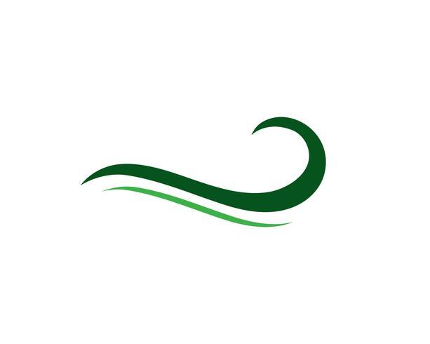 Símbolo de la ola de agua e icono de plantilla de logotipo