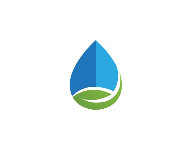 Waterdruppel logo sjabloon illustratie