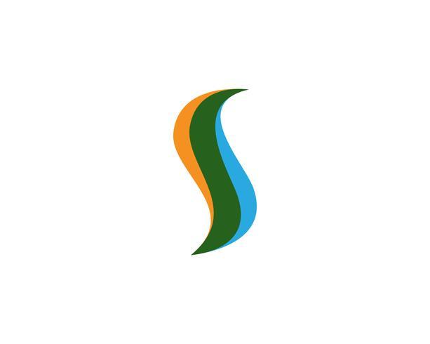 S logotyp vektor brev