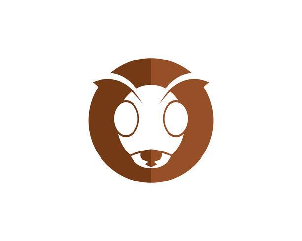 Illustration vectorielle de fourmi Logo template