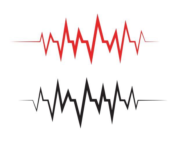 Pulse line ilustration vector template - Vectors