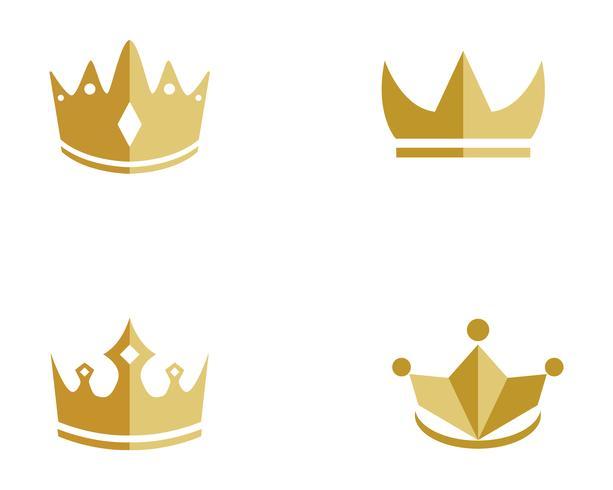golden crown logo vectors