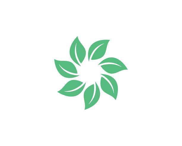 Seven leaf go green logo nature vector