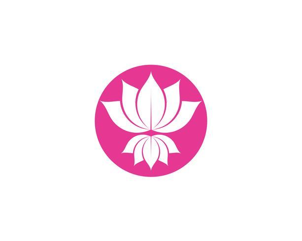 Bem-estar de sinal de flor de lótus, Spa e Yoga. Ilustração vetorial