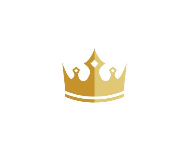 vetores de logotipo coroa dourada