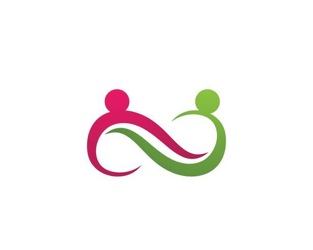 Adopción y plantilla de logotipo de cuidado infinito de la comunidad.