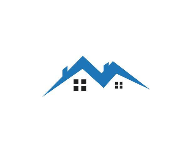 Wohngebäude Logo und Symbole Symbole